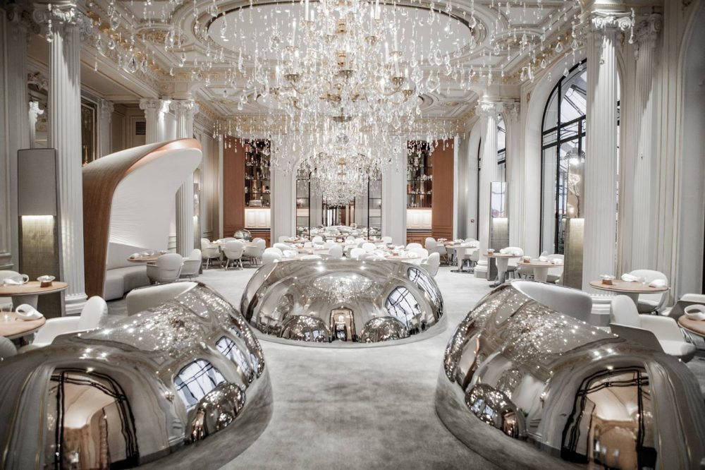 The opulent Alain Ducasse au Plaza Athénée, Paris, France