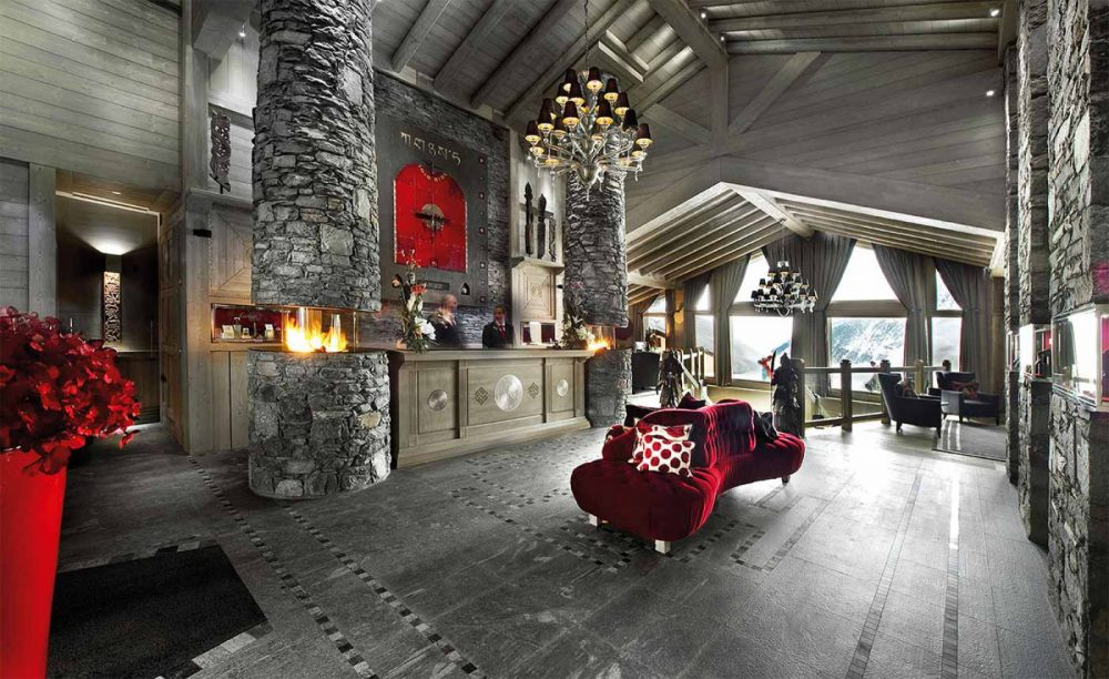 Hotel Le K2 Palace, Courchevel 1850—a concept inspired by the mountain ranges of the Himalayas