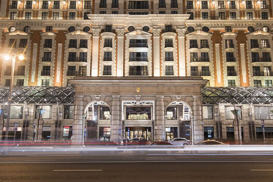 An architectural nod to Imperial Russia, the 19th century Ritz Carlton in Moscow
