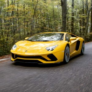 Lamborghini Aventador S Coupé, boasting the iconic V12 engine