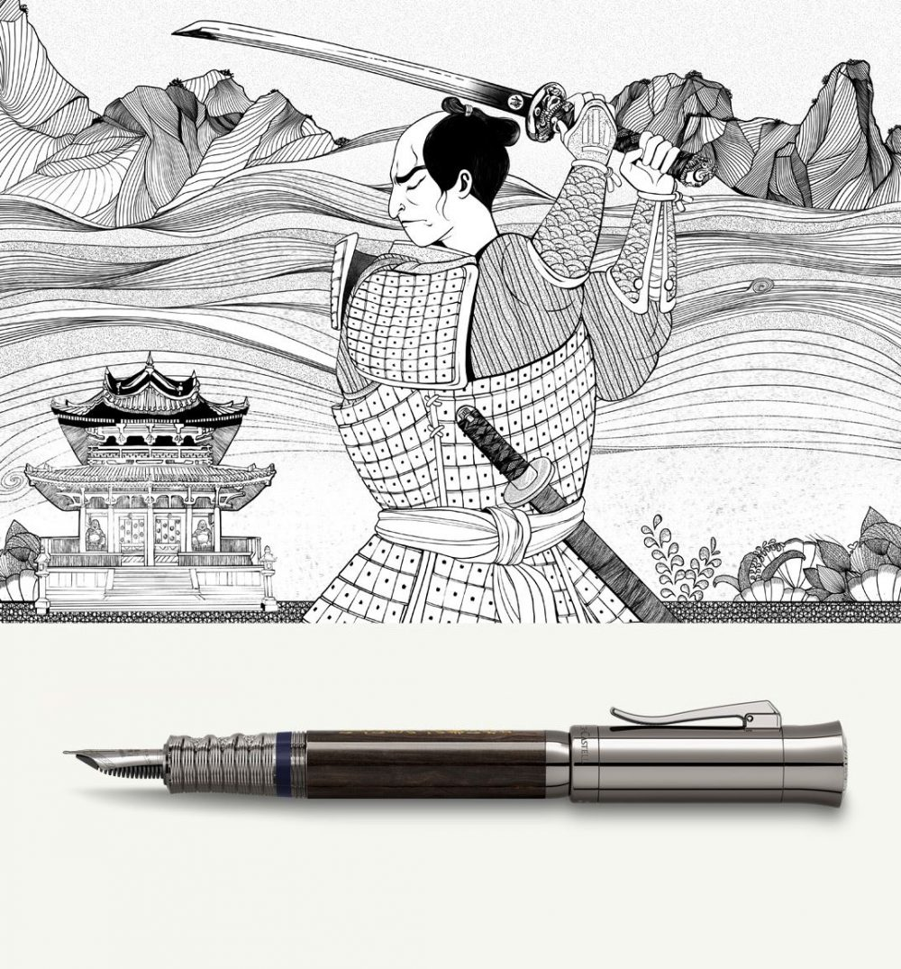 The Samurai pen of the year 2019 by Graf von Faber-Castell