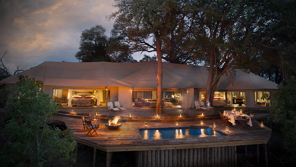 Luxury Experiences | Zarafa Dhow Suite, Luxury Safari Lodge, Selinda Reserve, Botswana