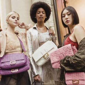 Fendi celebrates the return of its iconic bag, #BaguetteFriendsForever
