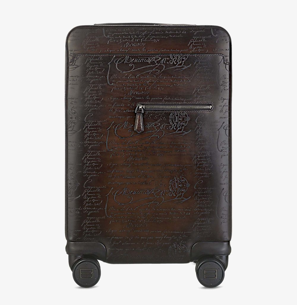 Berluti – Formula 1004 Scritto Leather Rolling Suitcase