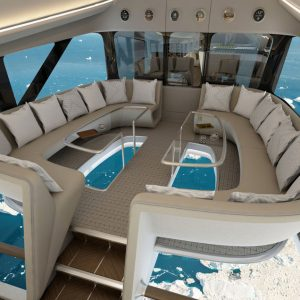Design Q unveil luxury cabin design for Airlander at Farnborough Air Show
