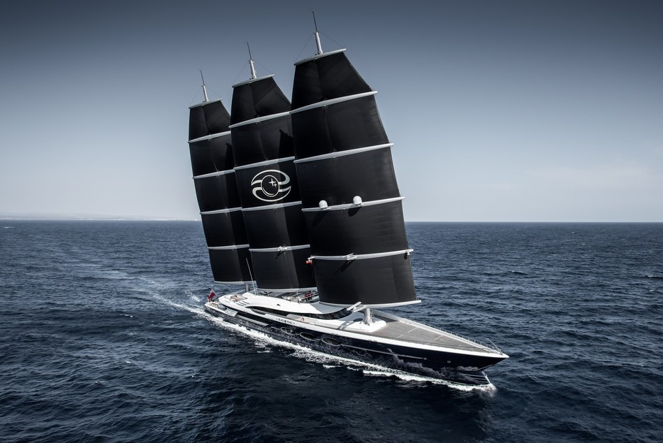 Oceanco Black Pearl, The Largest Dynarig Sailing Yacht measuring 106.7m