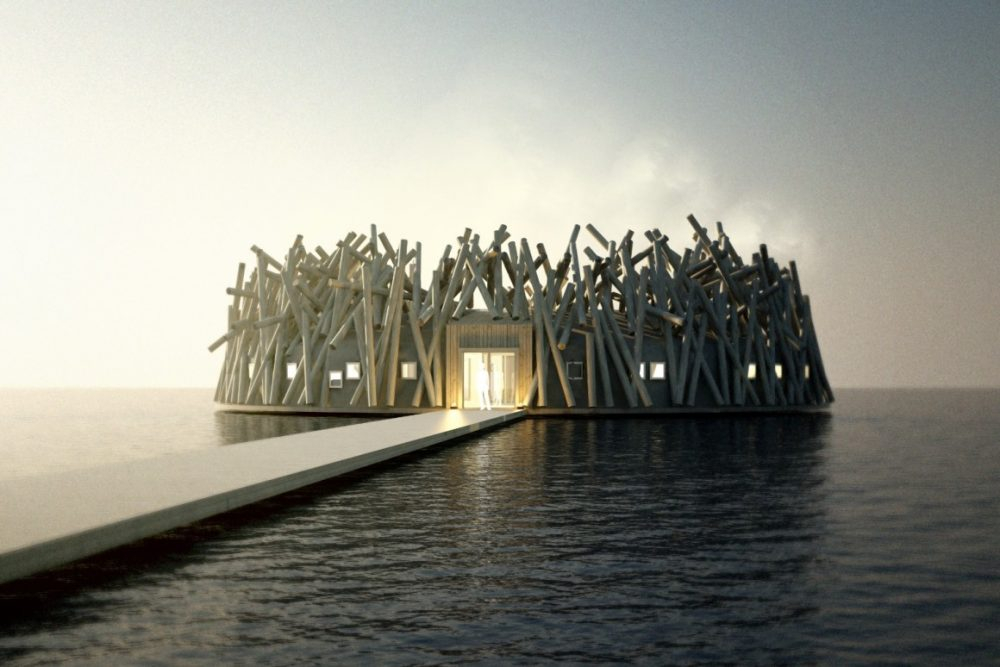 Arctic Bath Hotel & Cold Bath, Swedish Lapland, a floating monument