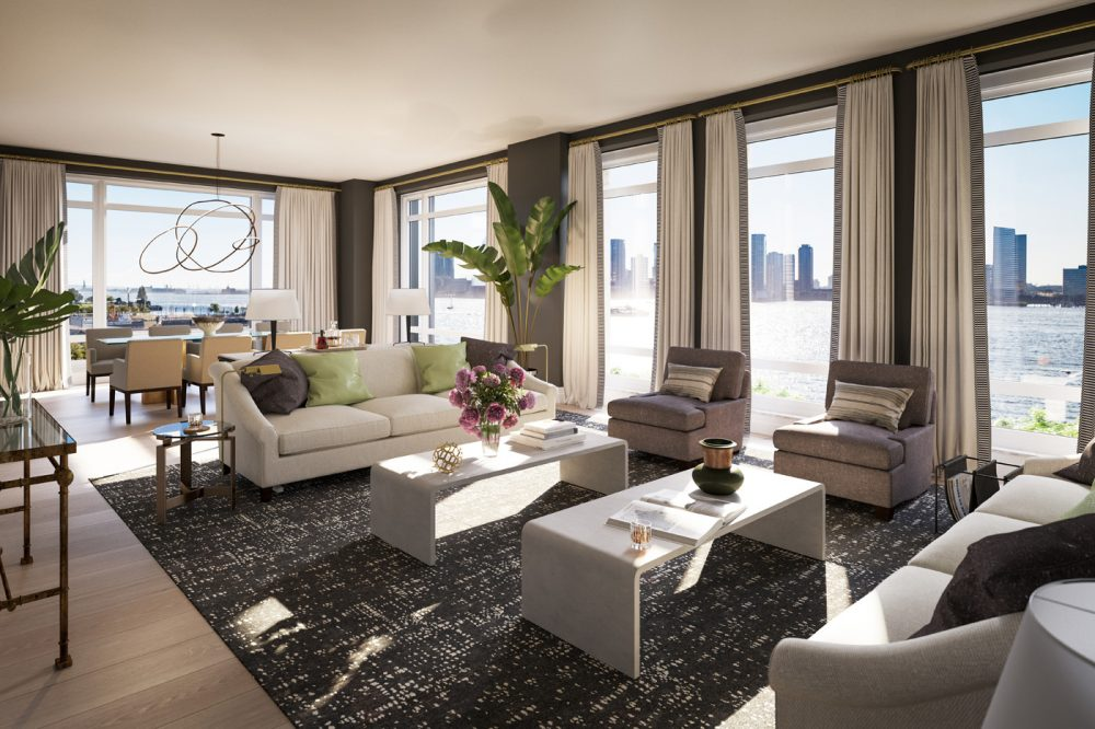 70 Vestry, Tribeca, a waterfront property with unimpeded Hudson River views in New York