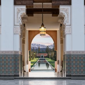 Oberoi, Marrakech, authentic architecture inspired by the palaces of ancient Morocco