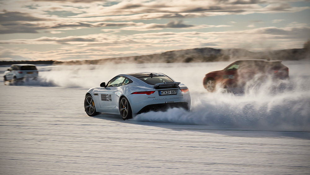 Extreme ice-driving on the edge of the Arctic circle: Jaguar Land Rover's Ice Academy