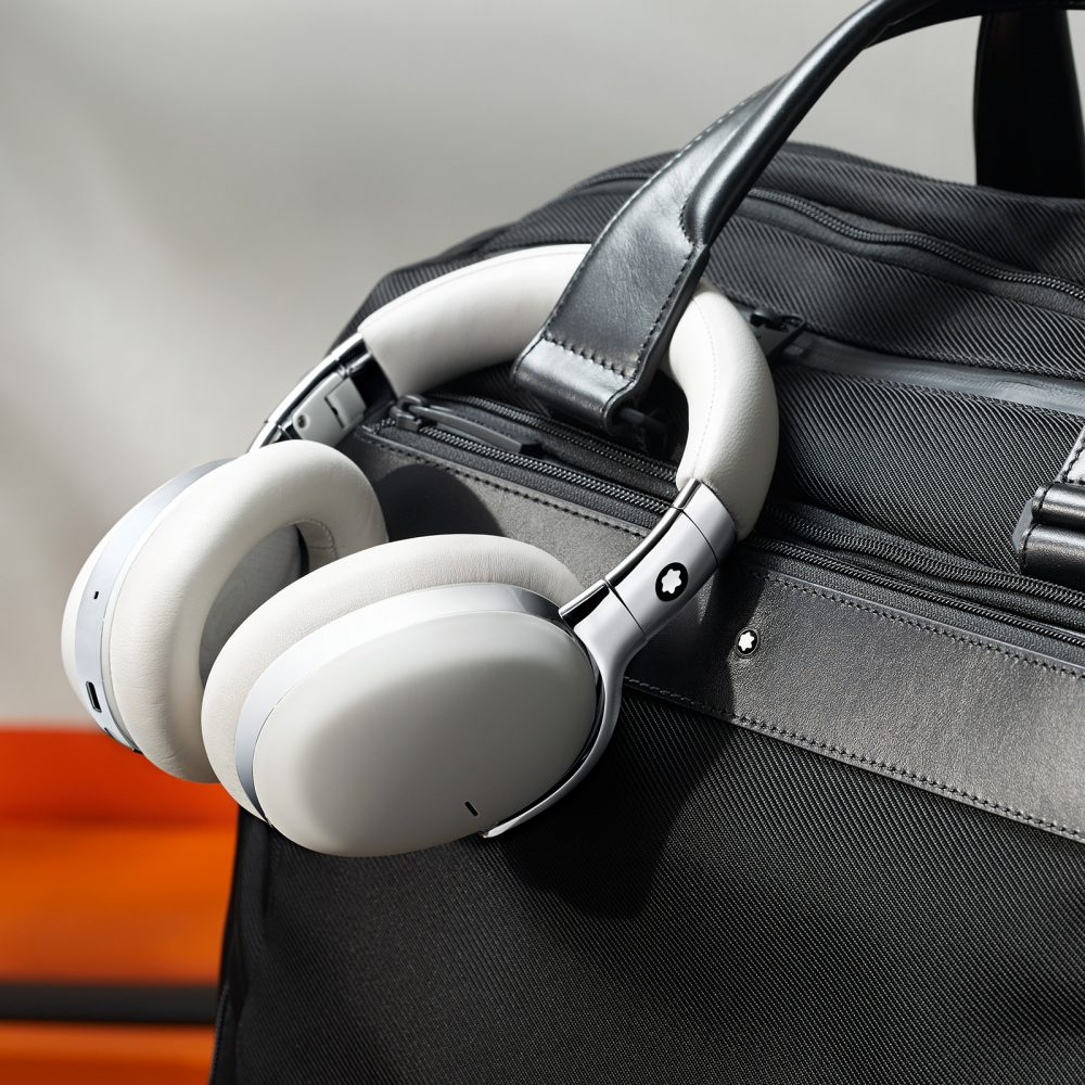 Montblanc wireless over-ear headphones, the brand's first smart headphones