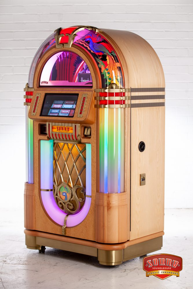 The SL45 Vinyl Peacock Jukebox by Sound Leisure