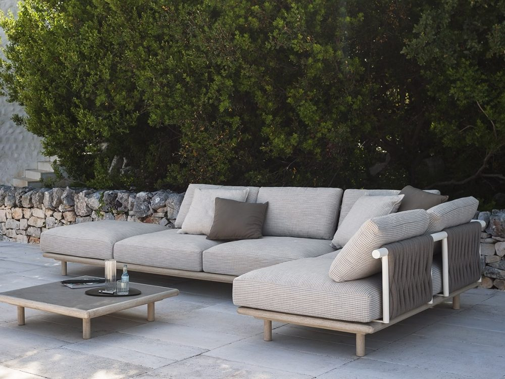 The EDEN system, a sophisticated modular outdoor sofa by RODA