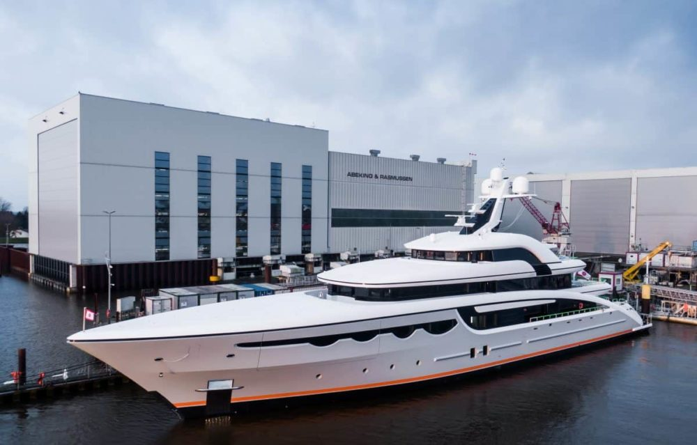 Abeking & Rasmussen delivers the 68m Soaring in a small-scale ceremony