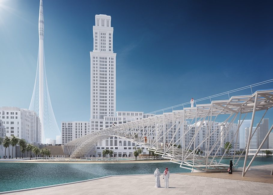 IJP Architects and engineer AKT II to built  futuristic two-storey footbridge in Dubai