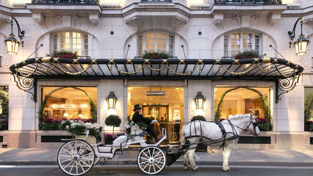 Le Bristol Paris, an elegant address on Rue du Faubourg Saint-Honoré