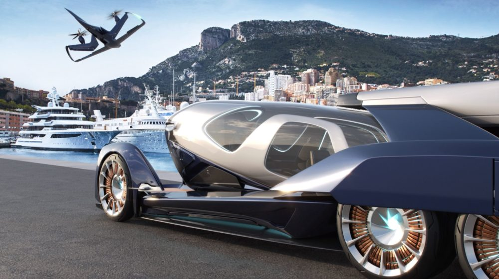 Embraer Pulse, the first-ever aerospace concept car