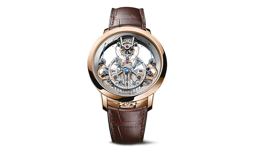 Sleek elegance with the Time Pyramid tourbillon by Arnold & Son