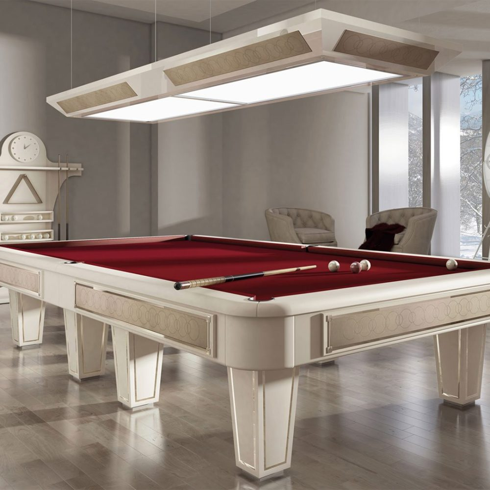 Discover authentic Italian manufacturing with bespoke pool table designs by Vismara