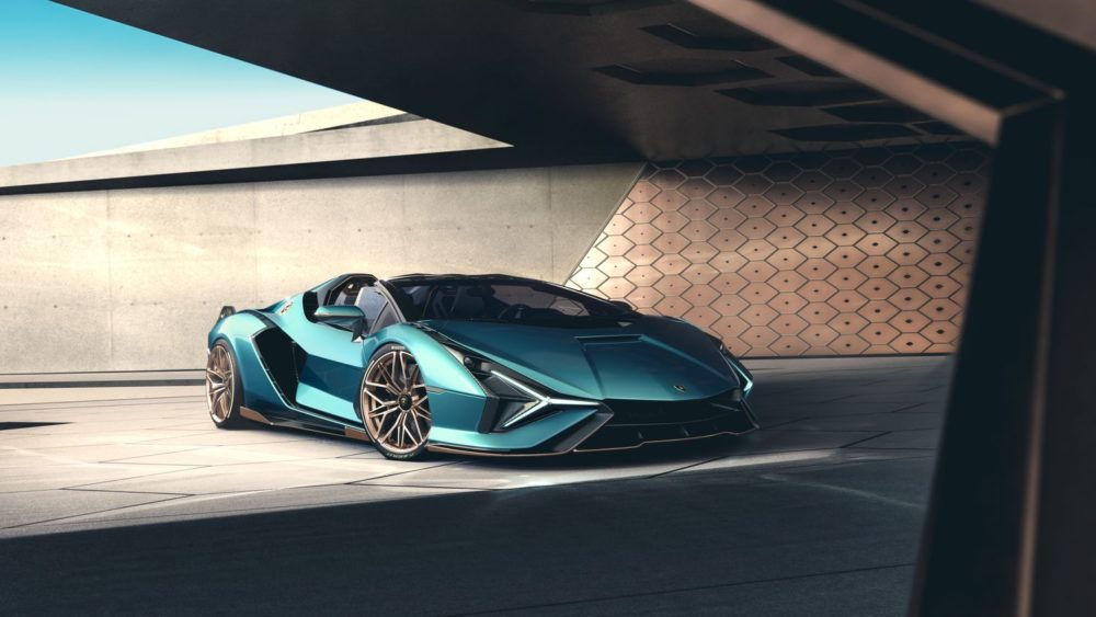 2021 Lamborghini Sián Roadster, a limited edition version of the visionary V12 super sports car