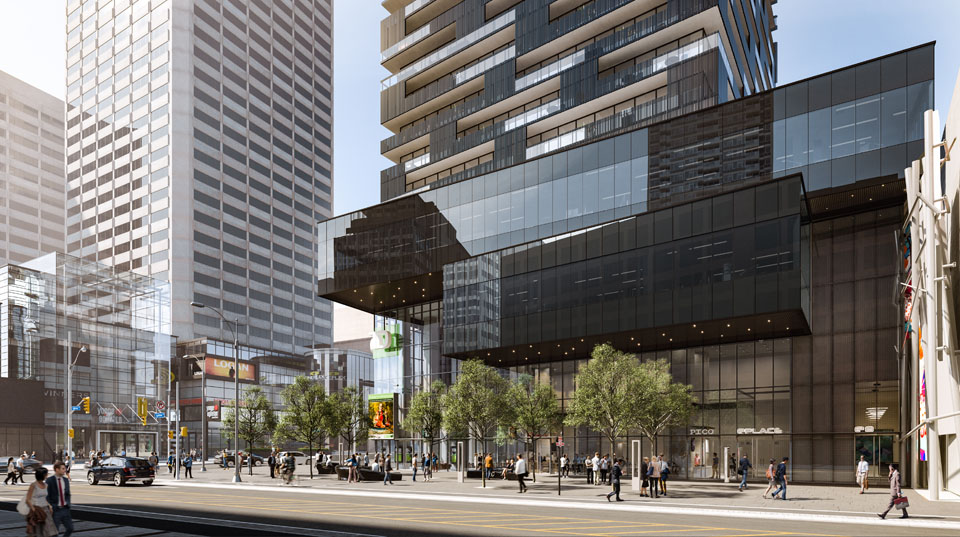 E Condos by BAZIS, two daring buildings soaring over the corner of Yonge and Eglinton in Toronto