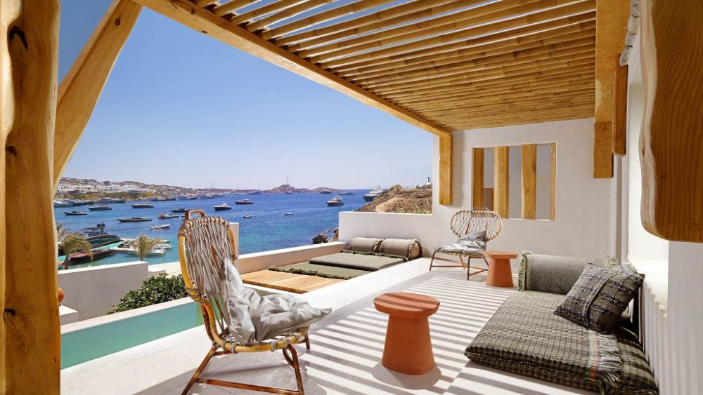 Kensho Psarou – A chic hotel celebrating life in an iconic location in Mykonos, Greece