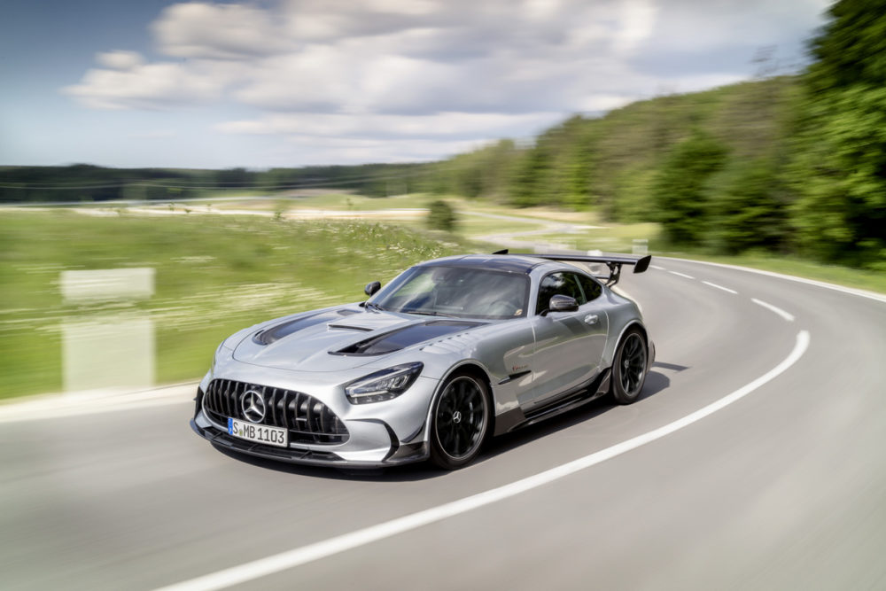 The 2021 Mercedes-AMG GT Black Series features the most powerful AMG V8 series engine of all time