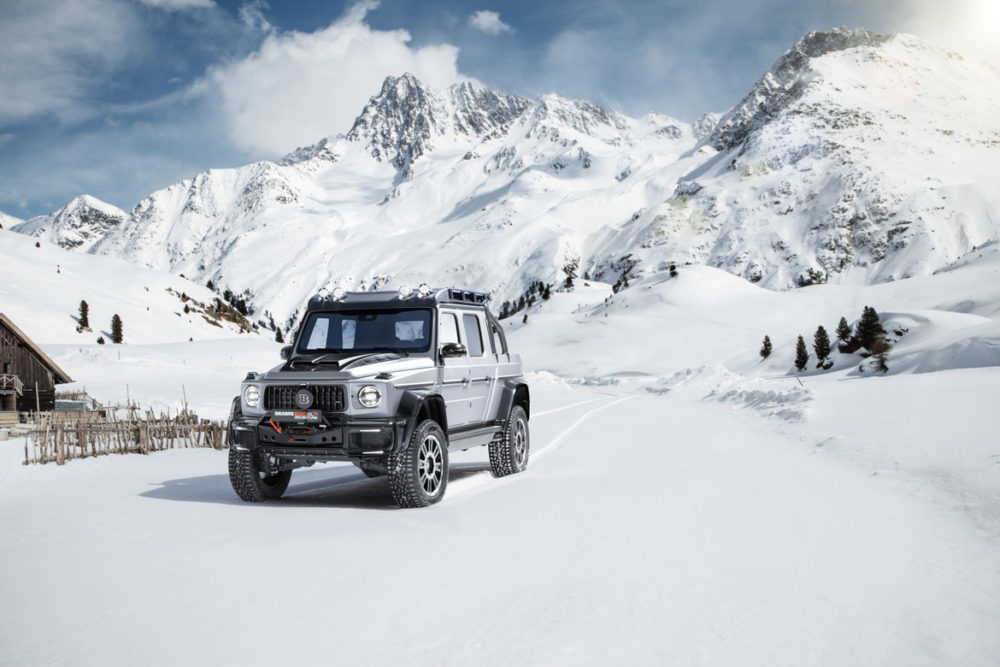 BRABUS 800 Adventure XLP, a high-performance off-road pickup based on the Mercedes-AMG G 63