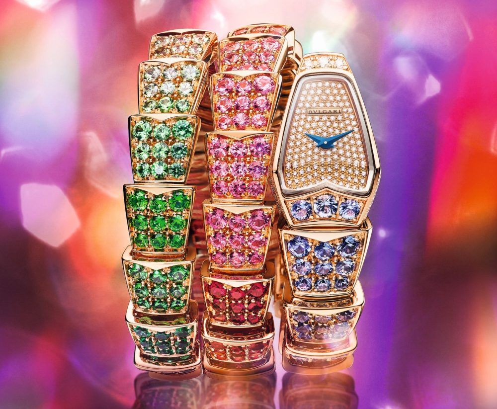 Bulgari introduces Rainbow and Colour Wave Serpenti Watches