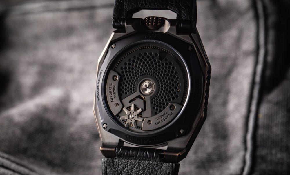 The latest iteration of Urwerk's UR-100 collection goes by the name T-Rex