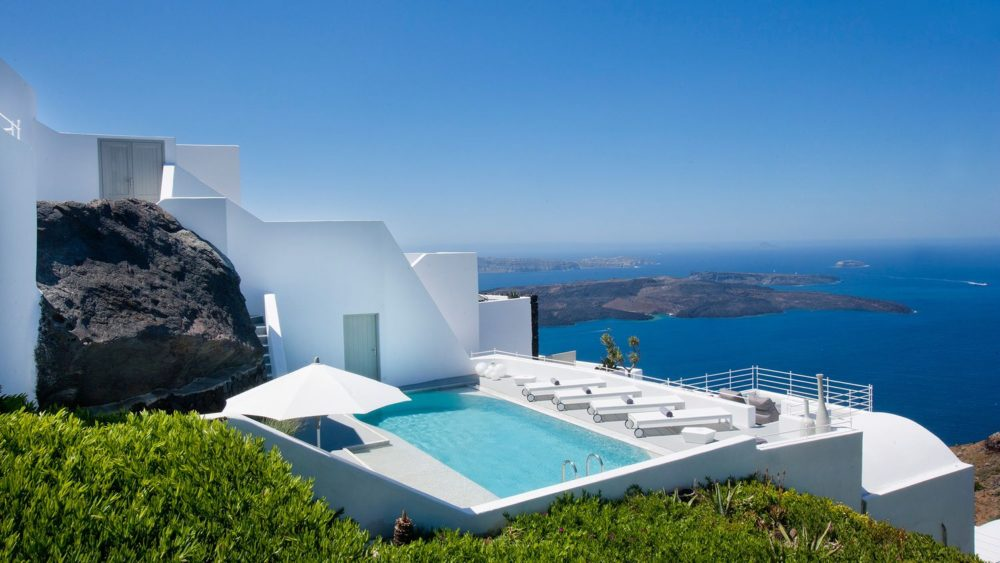 Grace Hotel in Santorini is a picturesque sanctuary perched above the Aegean Sea