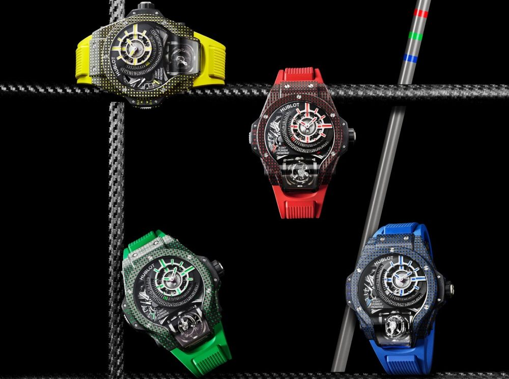 """Introducing Hublot's MP-09 """"Manufacture Piece"""" color collection"""