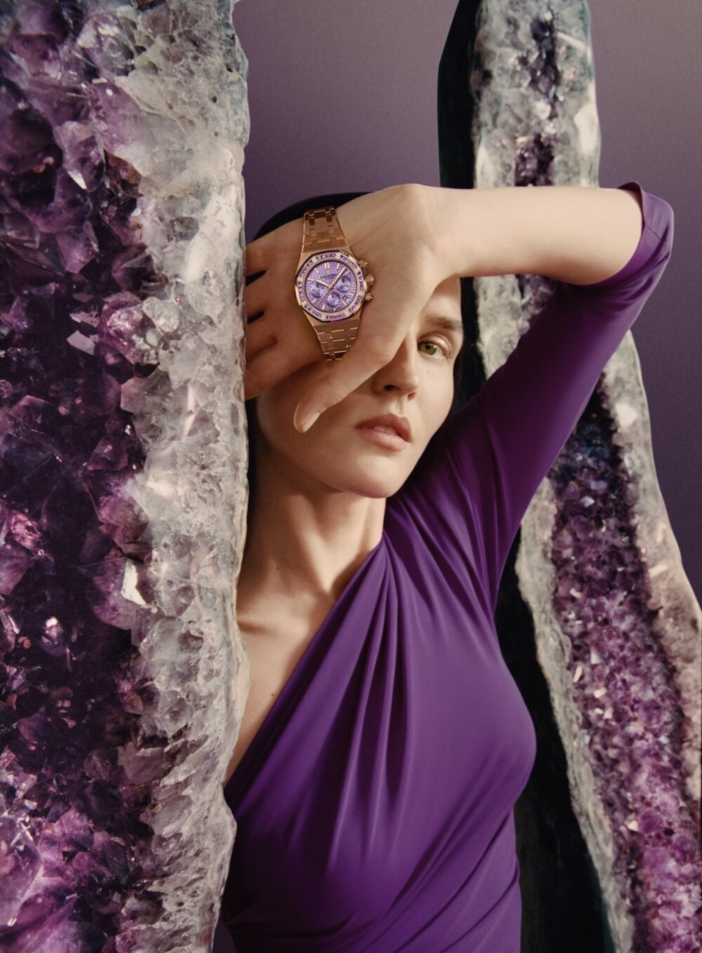 Audemars Piguet's Royal Oak Amethyst Self-winding Chronograph plays with colour and light