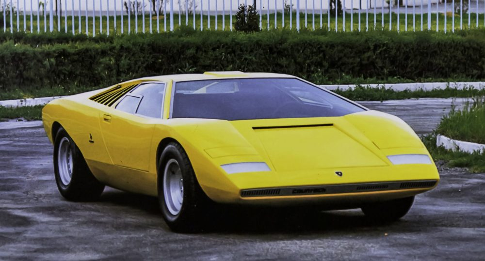 Lamborghini presents the reconstruction of the first Countach, the 1971 LP 500
