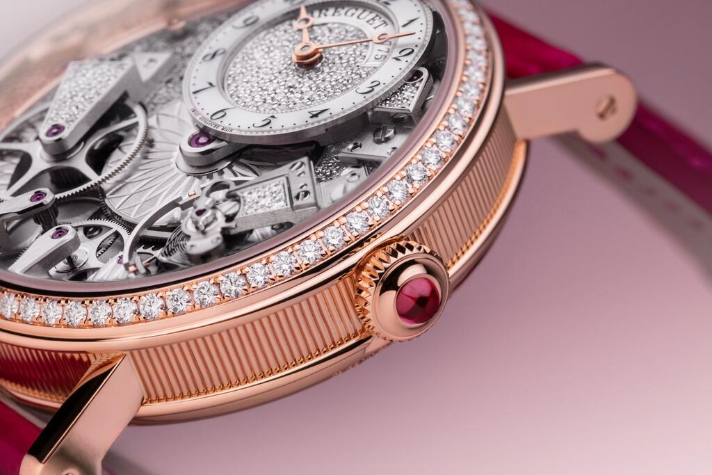 The Tradition 7035 is an exclusive, high jewellery interpretation of the Breguet Tradition for women