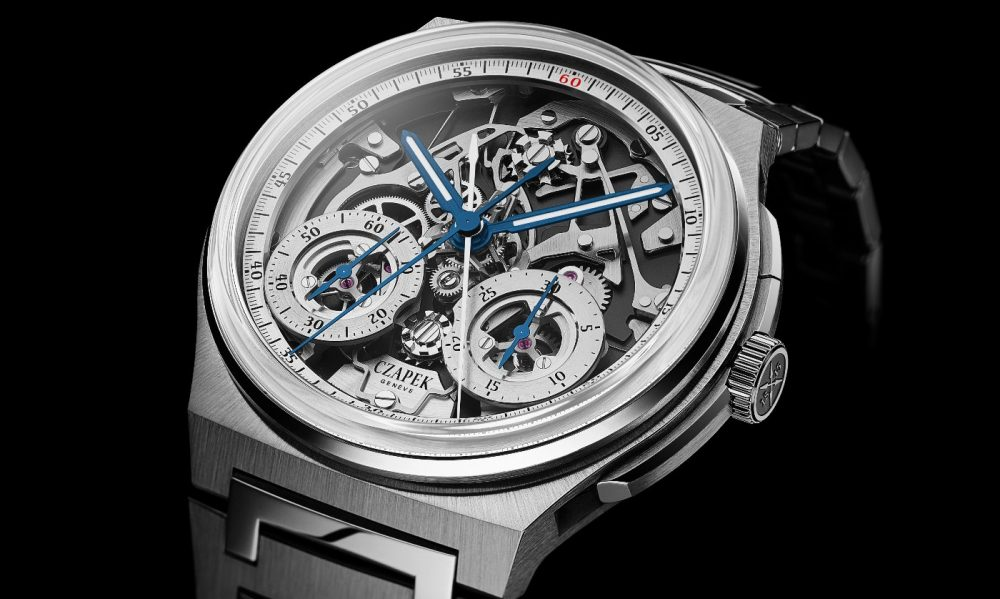 Experience the Art of splitting time with the Czapek Antarctique Rattrapante